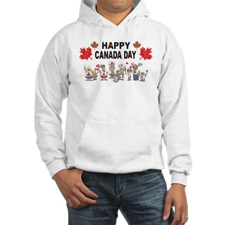 Happy Canada Day Hooded Sweatshirt