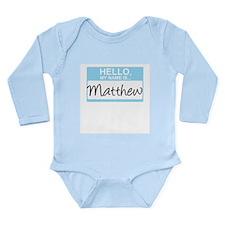 Cute Baby name Long Sleeve Infant Bodysuit