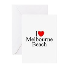 """""""I Love Melbourne Beach"""" Greeting Cards (Package o"""