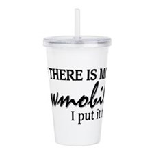 Money in Snowmobiling Acrylic Double-wall Tumbler