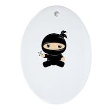 Lil Ninja Oval Ornament