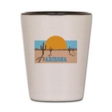 Arizona desert scene Shot Glass