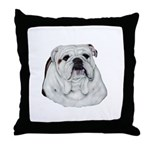 Proud English Bulldog Throw Pillow