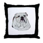 Proud English Bulldog Throw Pillow