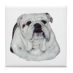 Proud English Bulldog Tile Coaster
