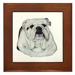 Proud English Bulldog Framed Tile