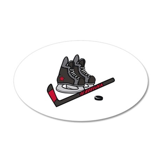 Hockey Skates Wall Decal
