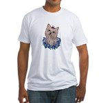 A Pensive Pretty Yorkie Fitted T-Shirt