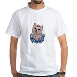 A Pensive Pretty Yorkie White T-Shirt