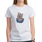 A Pensive Pretty Yorkie Women's T-Shirt