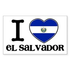 I love El salvador Rectangle Decal