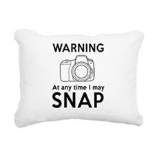 Warning may snap photographer Rectangular Canvas P