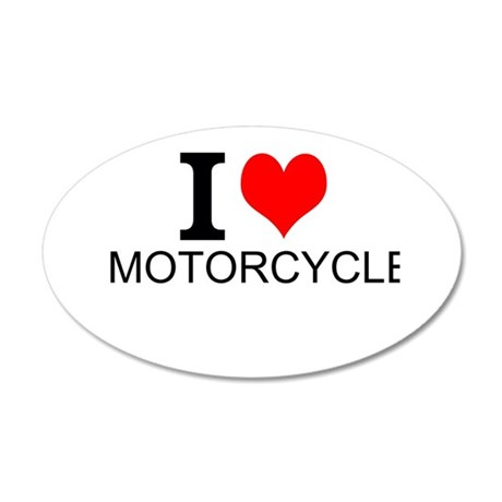 I Love Motorcycles Wall Decal