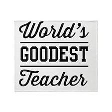 World's goodest teacher Throw Blanket