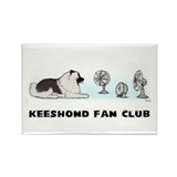 Keeshond Fan Club Rectangle Magnet (100 pack)