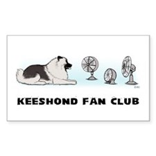 Keeshond Fan Club Decal