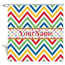 Custom Colorful Chevron Pattern Shower Curtain