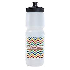 Custom Colorful Chevron Pattern Sports Bottle