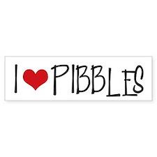 I Love Pibbles! Bumper Bumper Sticker