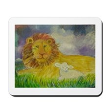 Cute Lion and lamb Mousepad