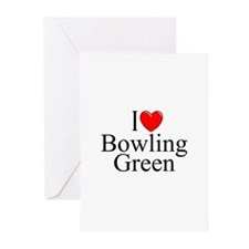 """""""I Love Bowling Green"""" Greeting Cards (Package of"""