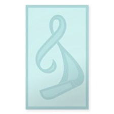 """Teal Ribbon Twist"" Rectangle Decal"