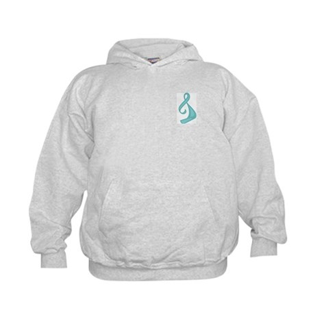 """Teal Ribbon Twist"" Kids Sweatshirt"