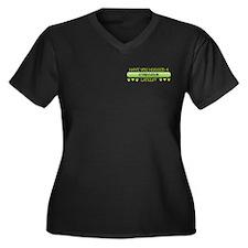 Hugged Staby Women's Plus Size V-Neck Dark T-Shirt
