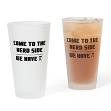 Come to the nerd side Drinking Glass