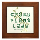 Crazy Plant Lady Framed Tile