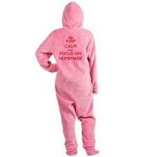 Cute Keep calm video Footed Pajamas