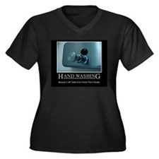 hand-washing-humor-infection-lg3 Plus Size T-Shirt