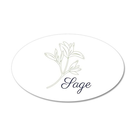 Sage Herb Plant Wall Decal