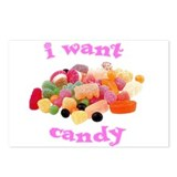 I want candy Postcards (Package of 8)