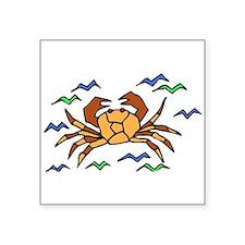Orange Crab Sticker
