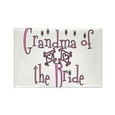 Grandma of the Bride Rectangle Magnet (100 pack)