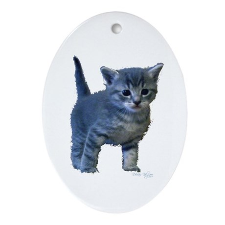 Kitten Oval Ornament