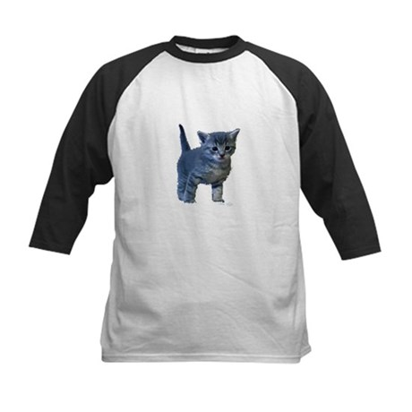 Kitten Kids Baseball Jersey