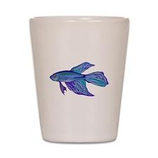 Blue Betta Fish Shot Glass
