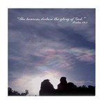 Heaven Declares the Glory of God Tile Coaster