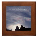 Heavens Declare Glory of God Framed Tile