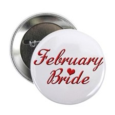 "February Bride 2.25"" Button (10 pack)"