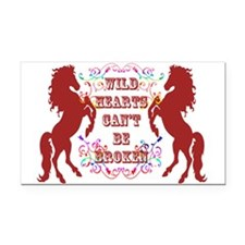 Wild Hearts Rectangle Car Magnet