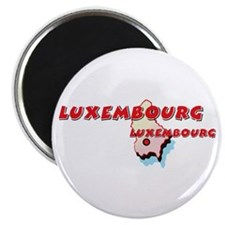 "Luxembourg Map 2.25"" Magnet (10 pack)"