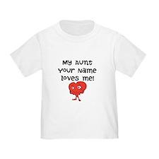 My Aunt Loves Me Cartoon Heart T-Shirt