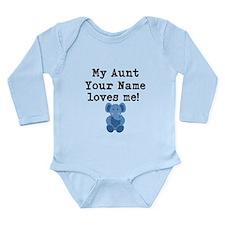 My Aunt Loves Me Blue Elephant Body Suit
