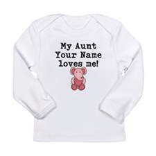 My Aunt Loves Me Pink Elephant Long Sleeve T-Shirt