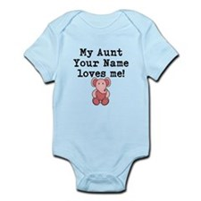 My Aunt Loves Me Pink Elephant Body Suit