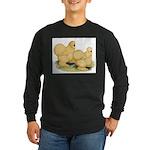 Buff Silkie Chickens Long Sleeve Dark T-Shirt