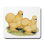 Buff Silkie Chickens Mousepad